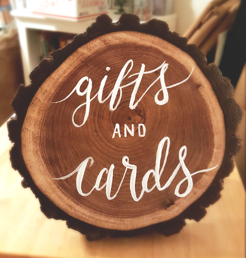Wooden Sign - Gifts and Cards