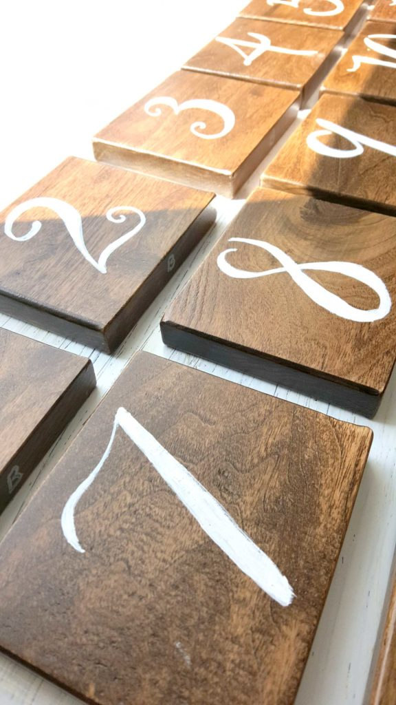 Wedding - Table Numbers